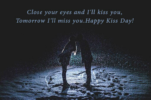 happy kiss day images with quotes
