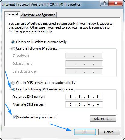 DNS-IP-setting