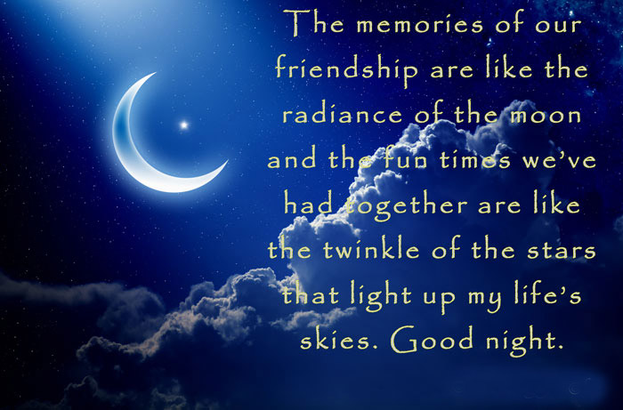 Good Night Quotes For Special Friend : Good night quotes wishes and messages for friends