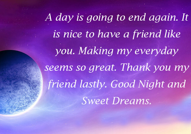 Good Night Quotes Wishes And Messages For Friends Lovers With Images