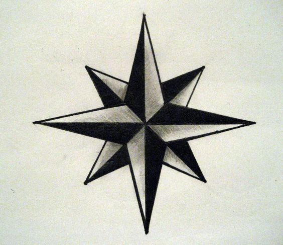 Eight Pointed Star Tattoos