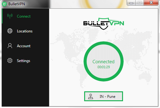 BulletVPN Connected