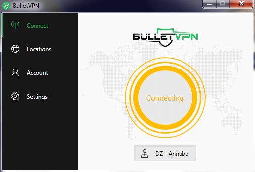 BulletVPN Connecting