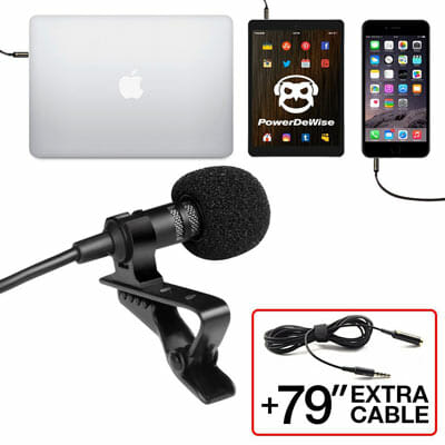 PowerDeWise Grade Lavalier Lapel Omnidirectional Microphone