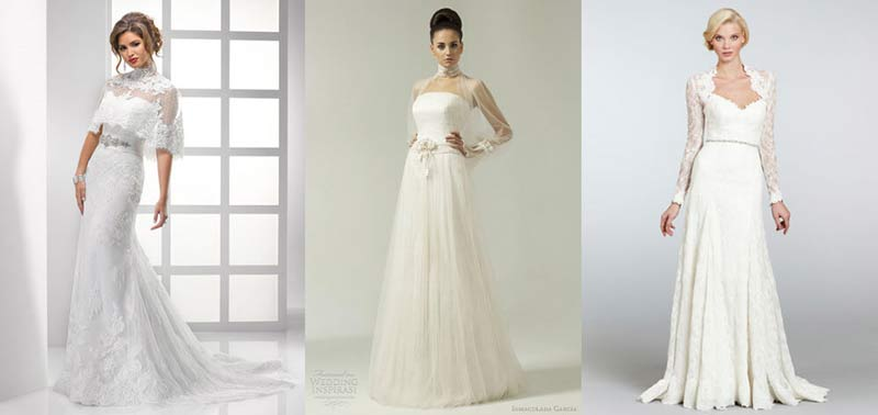 Wedding Dresses with Neckline Jackets
