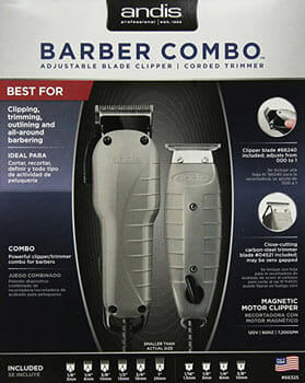 Andis Barber Powerful Clipper and Trimmer Combo Kit