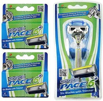 Dorco Pace 6 Plus Razor System with Trimmer
