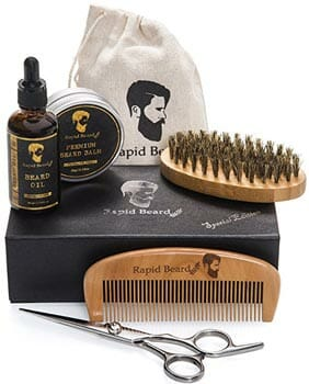 Beard Grooming and Trimming Kit for Men with Rapid Beard