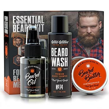 Essential Beard and Mustache Grooming Kit by Wild Willies