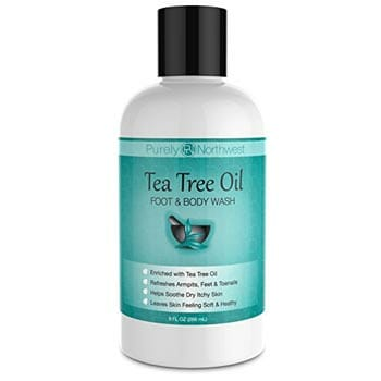 Antifungal Tea Tree Oil Body Wash for Men and Women by Purely Northwest