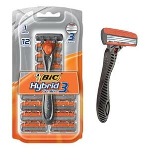 Bic Hybrid 3 Comfort Disposable Razor