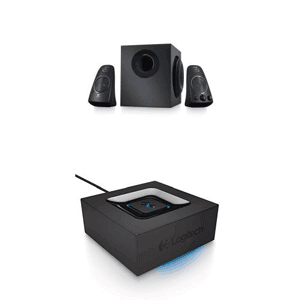 Logitech Z623 Speaker System with Bluetooth Adapter