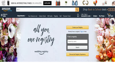 amazon wedding registery