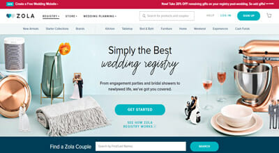 15 best wedding registry sites to register for wedding zola totally deserves to be on top of the list of best wedding registry sites because of its versatility and superb registry features malvernweather Image collections
