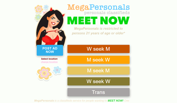 Sites like Megapersonals