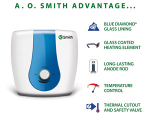 AO Smith SDS-GREEN SERIES-015 Storage 15 Litre Vertical Water Heater