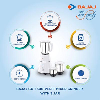 Bajaj GX-1 Mixer Grinder