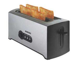 Borosil BTO1500SS22 4-Slice Pop Up Toaster