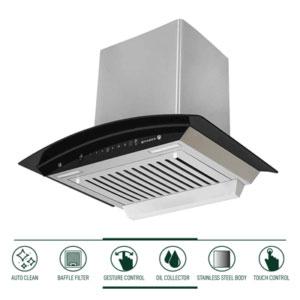 Faber 60 cm heat auto clean chimney