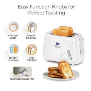 KENT - 16031 850-Watt 2-Slice Pop-up Toaster