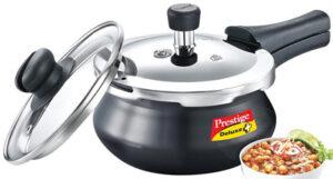 Prestige Deluxe Duo Plus Induction Base Aluminium Pressure Cooker